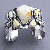 Украшения handmade. Livemaster - original item Silver bracelet with amber. Handmade.
