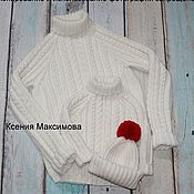 Одежда handmade. Livemaster - original item sweater Great family look. Handmade.