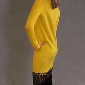 Одежда ручной работы. Ярмарка Мастеров - ручная работа Платье трикотажное с плотным кружевом. Handmade.
