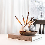 Материалы для творчества handmade. Livemaster - original item Set of wooden knitting hooks from 9 pieces KN30. Handmade.