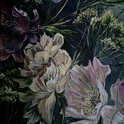 Картины и панно ручной работы. Ярмарка Мастеров - ручная работа Роспись с изображением цветов и трав. Handmade.
