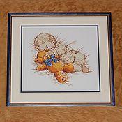 """Для дома и интерьера ручной работы. Ярмарка Мастеров - ручная работа Вышивка крестом """"Сынишка"""". Handmade."""