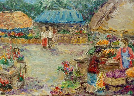 Город ручной работы. Ярмарка Мастеров - ручная работа. Купить цветочный рынок. Handmade.