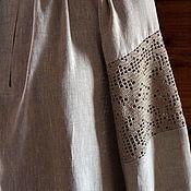 Русский стиль handmade. Livemaster - original item Linen shirt with lace Arepa. Handmade.