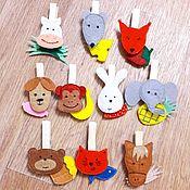 """Куклы и игрушки ручной работы. Ярмарка Мастеров - ручная работа Игра """"Кто что Ест?"""". Handmade."""
