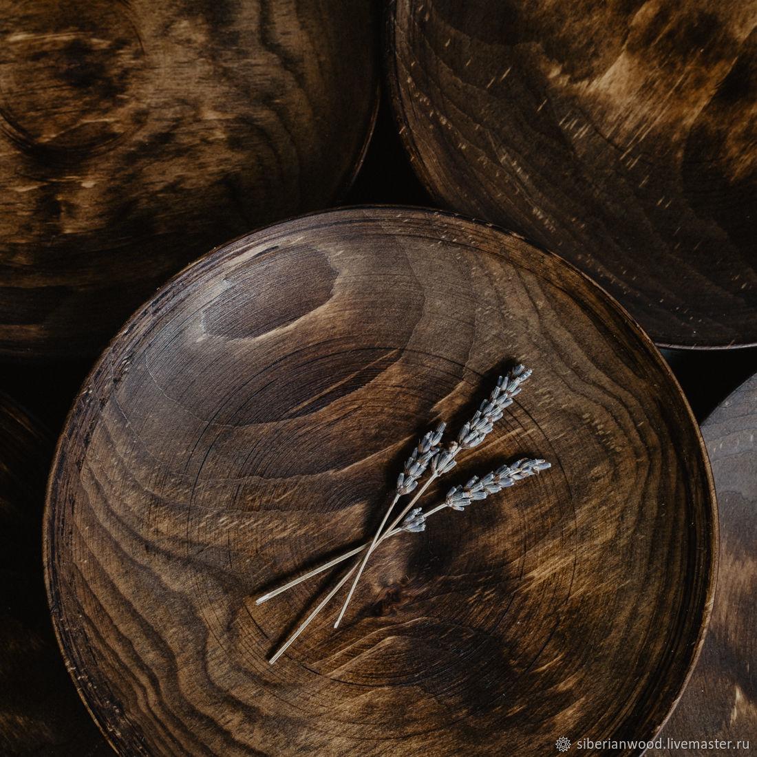 Набор Деревянных Тарелок (6 шт) 25см 100% Сибирская Пихта #TN44, Тарелки, Новокузнецк,  Фото №1