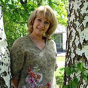 """Одежда ручной работы. Ярмарка Мастеров - ручная работа Пуловер """" Цветы и шерсть"""". Handmade."""