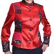 """Одежда ручной работы. Ярмарка Мастеров - ручная работа Куртка красная  """"Маков цвет"""". Handmade."""