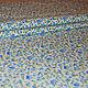 Голубые цветочки на белом фоне. Хлопок 100%. Поплин. Ткань для шитья и рукоделия. Набор есть в наличии.