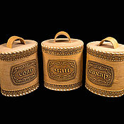 Для дома и интерьера handmade. Livemaster - original item A set of birch bark containers from bark Oriental spices. Storage jars. Handmade.