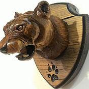 "Картины и панно handmade. Livemaster - original item ""Ягуар"" - трофейный медальон на стену. Handmade."
