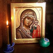 Картины и панно handmade. Livemaster - original item Virgin Of Kazan .The icon is handwritten on gold. Handmade.