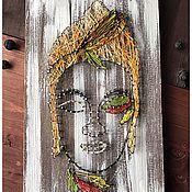 """Стринг-арт ручной работы. Ярмарка Мастеров - ручная работа Картина / панно """"Будда"""" в стиле стринг арт. Handmade."""