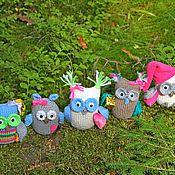 Куклы и игрушки ручной работы. Ярмарка Мастеров - ручная работа амигуруми совята. Handmade.