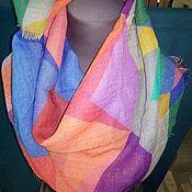 Аксессуары handmade. Livemaster - original item Neck scarf made of rarefied wool Pavlov Posad. Handmade.