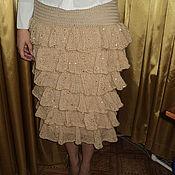 Одежда ручной работы. Ярмарка Мастеров - ручная работа вязаная юбка с воланами. Handmade.