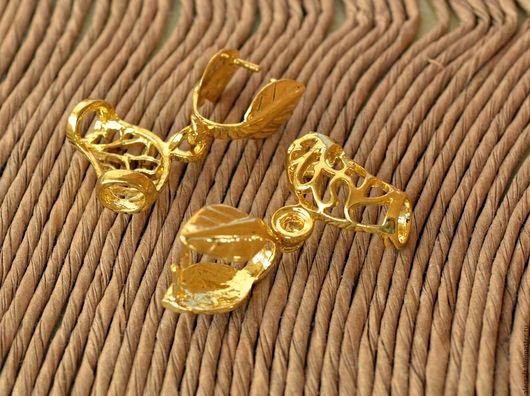 Для украшений ручной работы. Ярмарка Мастеров - ручная работа. Купить Держатель для кулона (бейл), золото. Handmade. Золотой