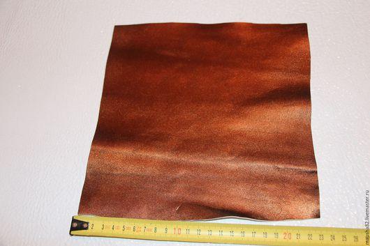 Шитье ручной работы. Ярмарка Мастеров - ручная работа. Купить кожа в кусках (рыжая бронза). Handmade. Кожа, натуральная кожа