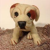 Куклы и игрушки handmade. Livemaster - original item The toy is made of wool puppy Bulldog. Handmade.