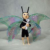 Куклы и игрушки ручной работы. Ярмарка Мастеров - ручная работа Вчера еще гусеница. Handmade.