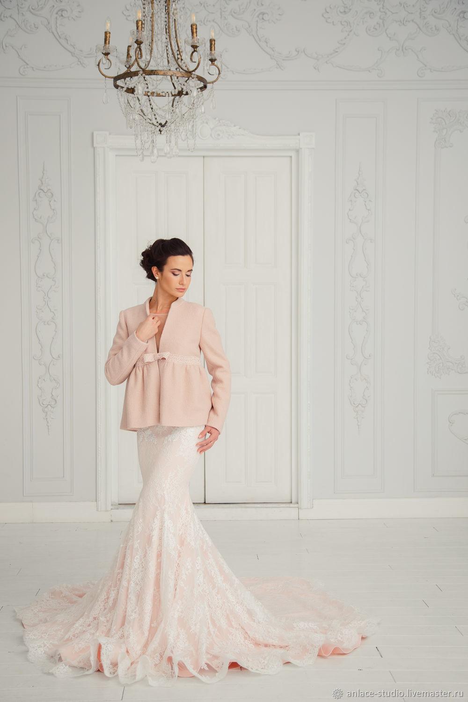 Wedding coat, Bridal jacket, Bridal coat, Wedding jacket, Nina Beige ...