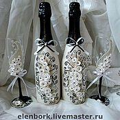 Свадебный салон ручной работы. Ярмарка Мастеров - ручная работа свадебный набор черно-белый. Handmade.