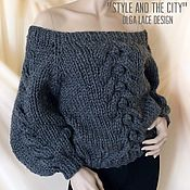 Одежда handmade. Livemaster - original item Knitted oversize sweater from the collection of