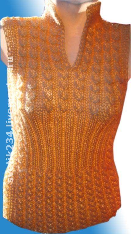 Кофты и свитера ручной работы. Ярмарка Мастеров - ручная работа. Купить Безрукавки женские. Handmade. Вязаная безрукавка