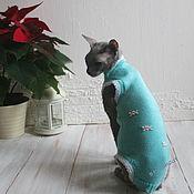 Для домашних животных, ручной работы. Ярмарка Мастеров - ручная работа Комбинезон с укороченными лапками для котов и кошек. Handmade.