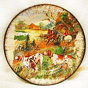 """Посуда ручной работы. Ярмарка Мастеров - ручная работа Тарелка """"Английская охота"""". Handmade."""