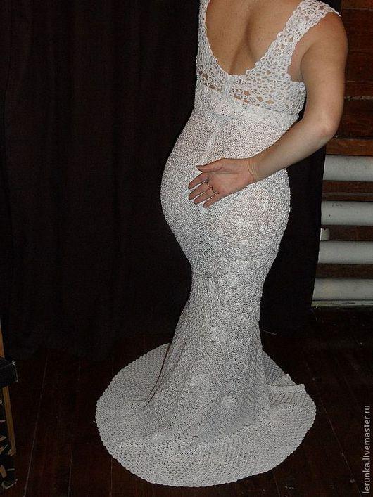 Платья ручной работы. Ярмарка Мастеров - ручная работа. Купить Вечернее платье из шелка Очарование. Handmade. Вязаное свадебное платье