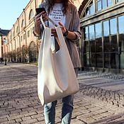 Сумки и аксессуары handmade. Livemaster - original item Genuine leather APRIL shopper bag in Large size. Handmade.