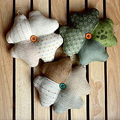 Подарки к праздникам handmade. Livemaster - original item Clover - a symbol of luck. Amulet made of fabric. Handmade.
