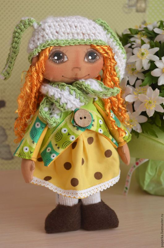 Сказочные персонажи ручной работы. Ярмарка Мастеров - ручная работа. Купить Девочка Весняночка. Handmade. Комбинированный, авторская игрушка