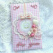 Канцелярские товары ручной работы. Ярмарка Мастеров - ручная работа Блокнот для девочки. Handmade.