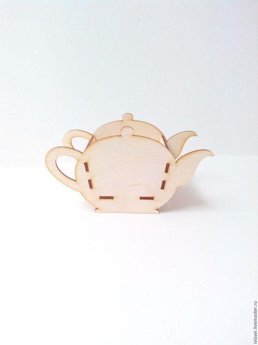IVL-103-3 Чайная коробочка Чайники конфетница заготовка для декупажа и росписи Материал фанера 3 мм