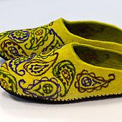 """Обувь ручной работы. Ярмарка Мастеров - ручная работа Тапки """"Солнечные огурцы"""". Handmade."""