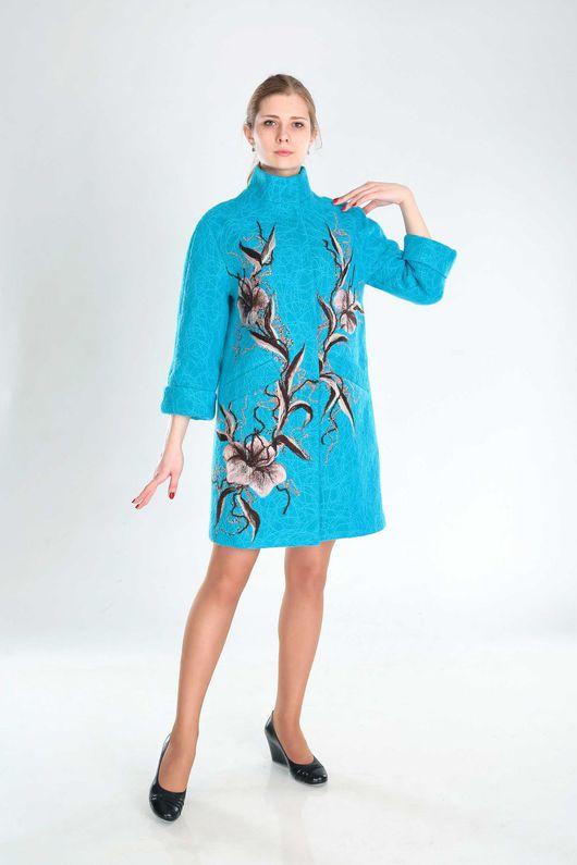 Верхняя одежда ручной работы. Ярмарка Мастеров - ручная работа. Купить ПС 26. Handmade. Бирюзовый, пальто, стиль