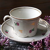 Винтаж handmade. Livemaster - original item A couple of tea, embossed porcelain Verbilki, 1954-1965 gg.. Handmade.