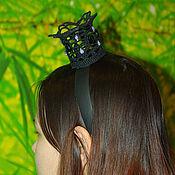 """Украшения ручной работы. Ярмарка Мастеров - ручная работа Маскарадная корона на ободке """"Ночная незнакомка"""". Handmade."""