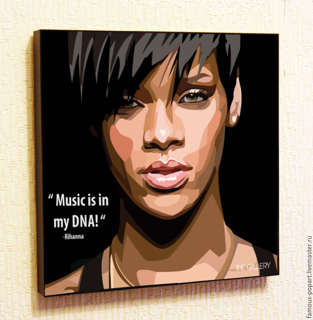 The picture is a poster of Rihanna Pop Art, Fine art photographs, Moscow,  Фото №1