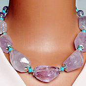 Украшения handmade. Livemaster - original item necklace Lavender amethyst turquoise. Handmade.