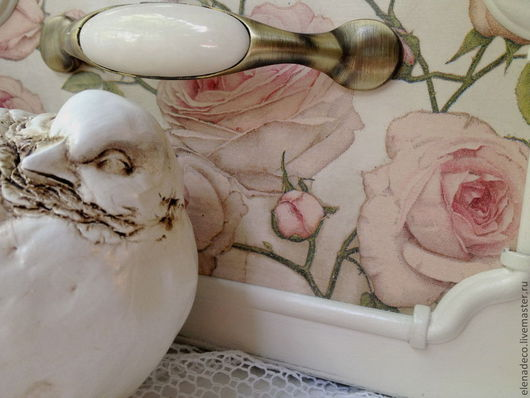 """Корзины, коробы ручной работы. Ярмарка Мастеров - ручная работа. Купить """"Roses sur le blanc"""" - Большой короб. Handmade."""