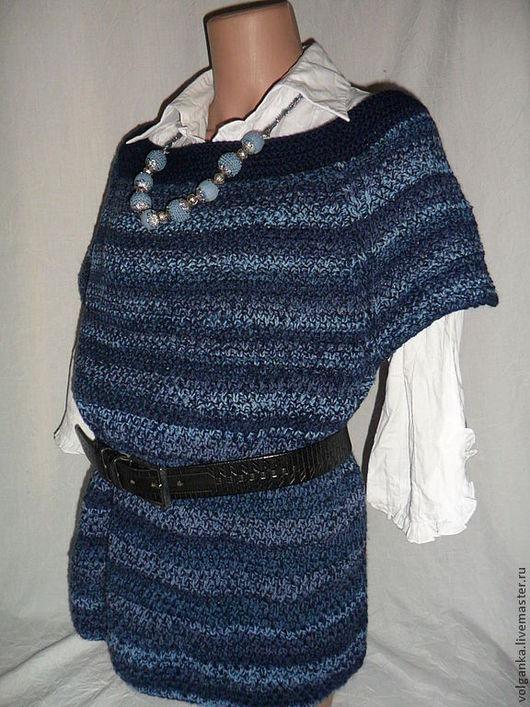 Кофты и свитера ручной работы. Ярмарка Мастеров - ручная работа. Купить Джемпер Lee. Handmade. Тёмно-синий, джинс, универсальный