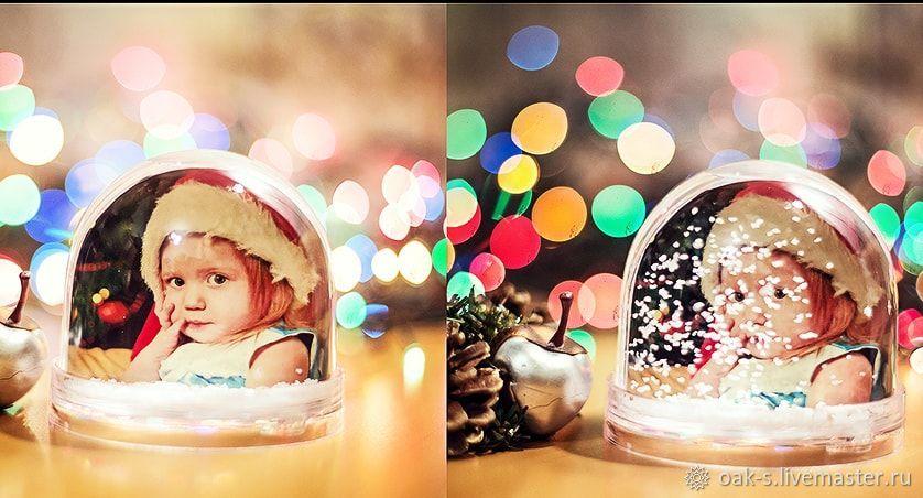 взять муку шар со снегом с фотографией внутри девушка