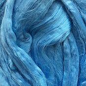 Материалы для творчества ручной работы. Ярмарка Мастеров - ручная работа Вискоза для валяния . Светло-голубой  50гр-80р. Handmade.