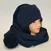 Шапки ручной работы. Ярмарка Мастеров - ручная работа Шапка-шарф-колпак, шапка шарф, длинная шапка, шапка с помпоном. Handmade.