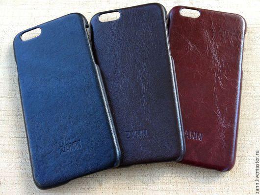 Для телефонов ручной работы. Ярмарка Мастеров - ручная работа. Купить Чехол из кожи для iPhone 6/6S. Handmade. Черный, handmade