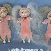 Куклы и игрушки ручной работы. Ярмарка Мастеров - ручная работа куклы Ля Муры мини розовые СКИДКА!. Handmade.