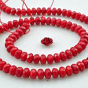 Материалы для творчества ручной работы. Ярмарка Мастеров - ручная работа Коралл огранка красный 31800. Handmade.